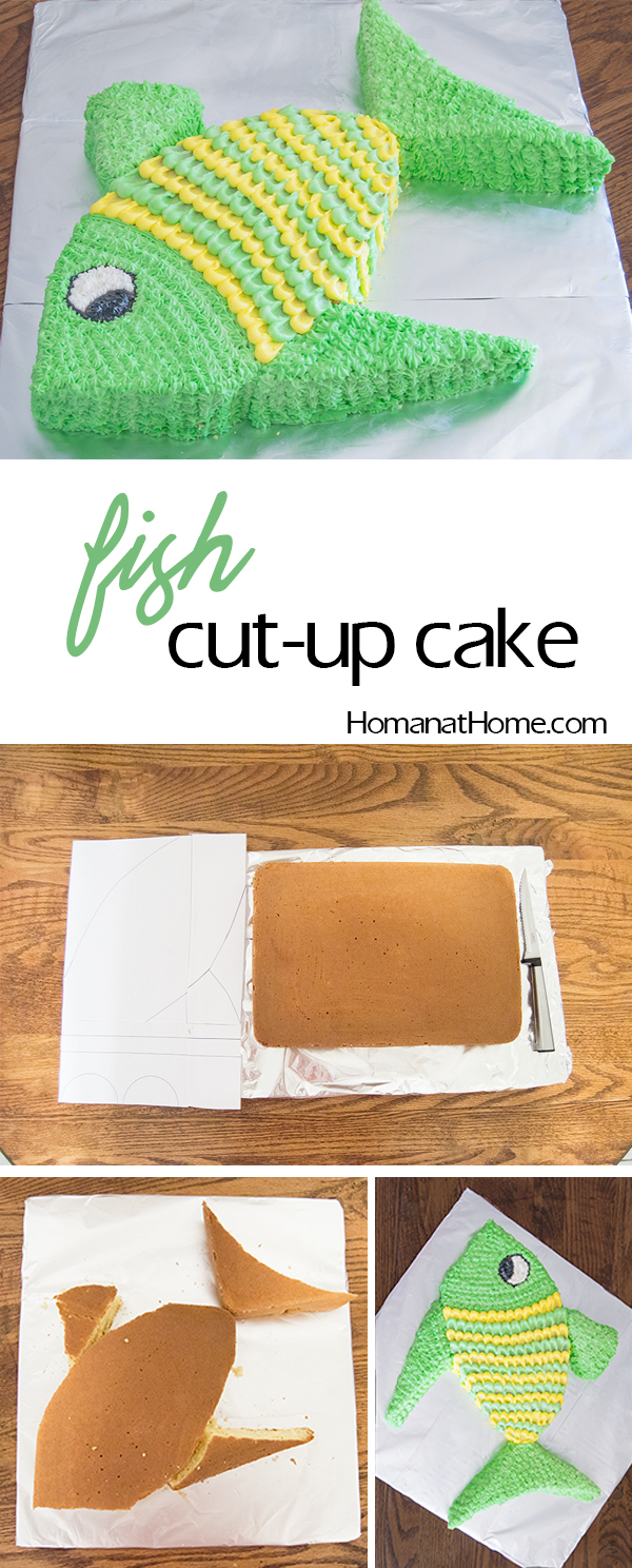 Fish Cut-Up Cake | Homan at Home