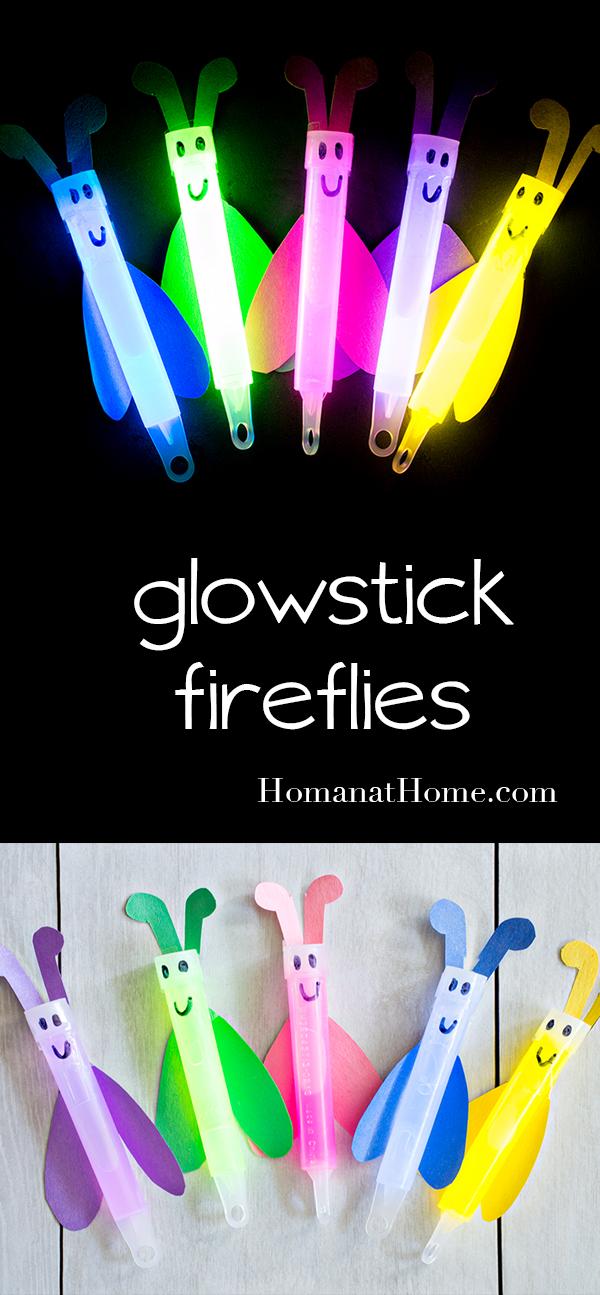 Glowstick Fireflies | Homan at Home
