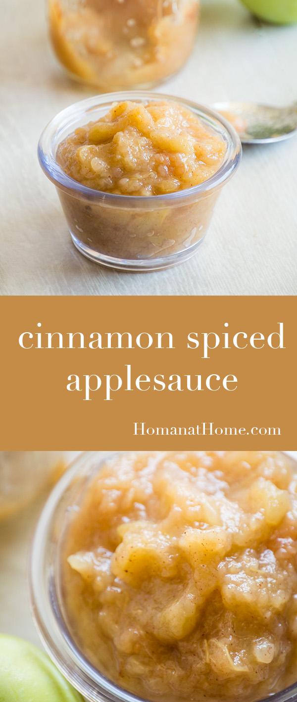 Cinnamon Spiced Applesauce | Homan at Home
