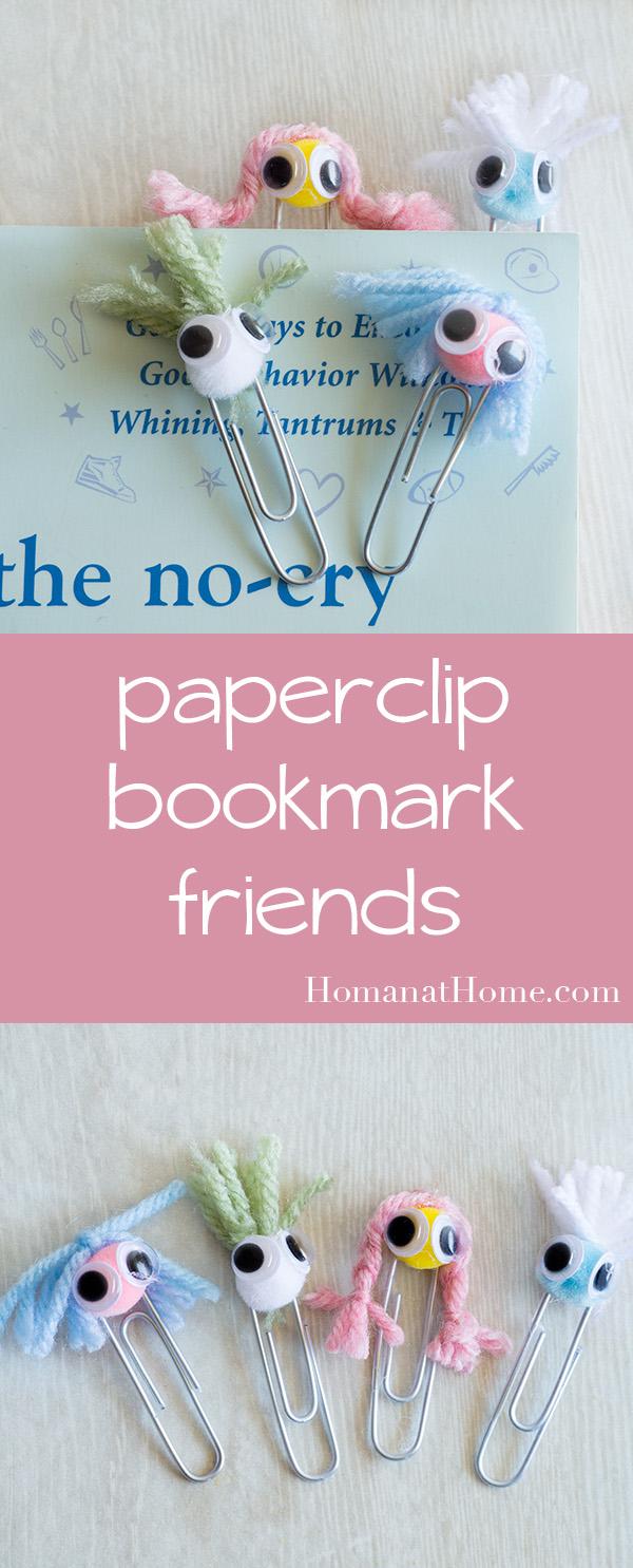 Paper Clip Bookmark Buddies | Homan at Home