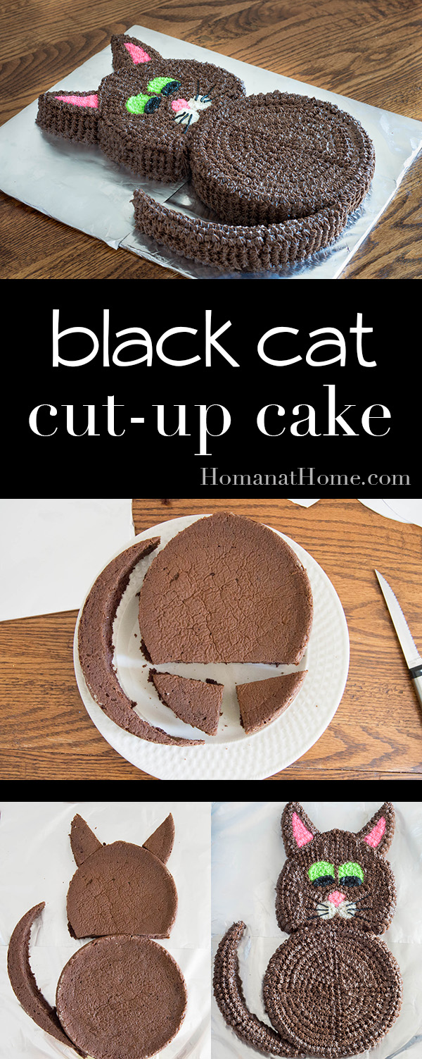 Black Cat Cut-Up Cake | Homan at Home
