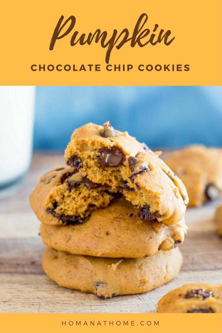 Pumpkin Chocolate Chip Cookies | Homan at Home