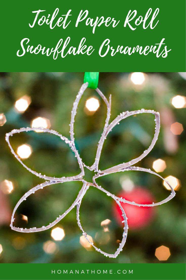Toilet Paper Roll Snowflake Ornaments | Homan at Home
