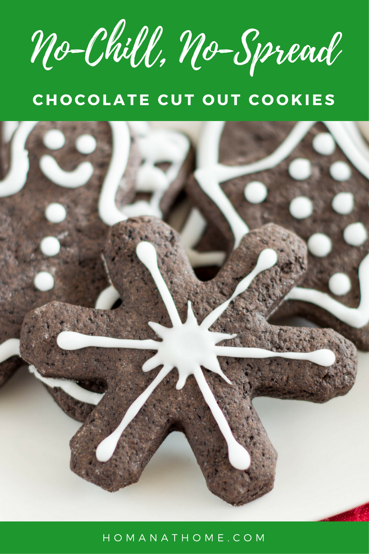 No Chill No Spread Chocolate Cut Out Cookies | Homan at Home