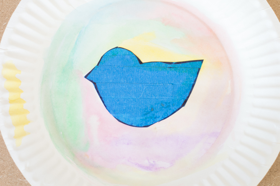 Easter Friends Paint Resist | Homan at Home