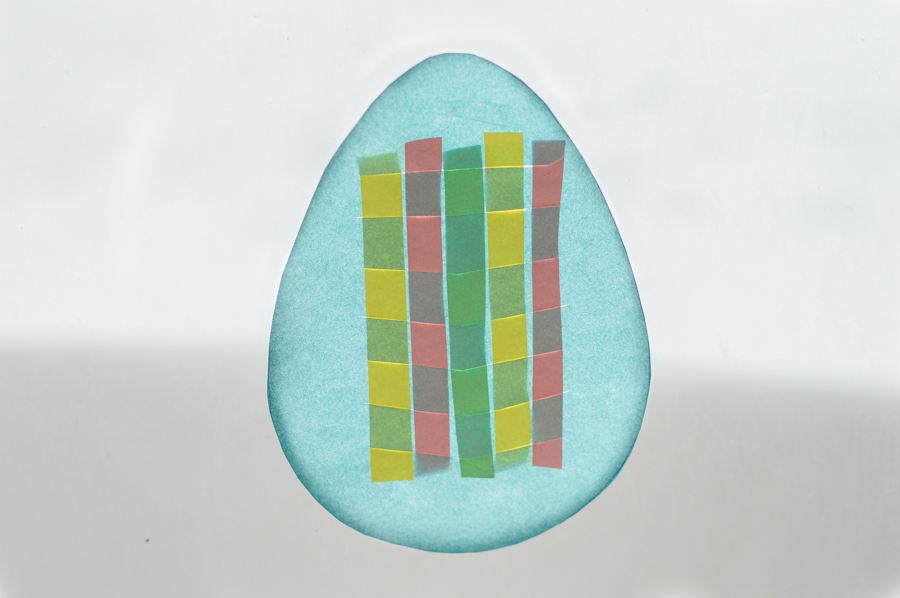 Stained Glass Easter Weaving