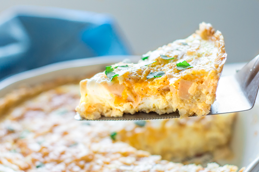Quiche with Rice Crust | Homan at Home