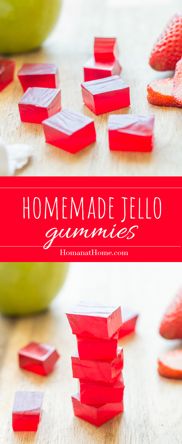 Homemade Jello Gummies | Homan at Home
