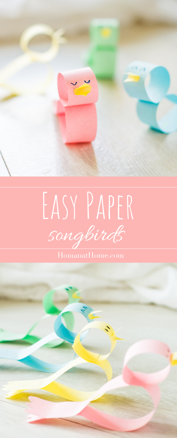 Easy Paper Songbirds | Homan at Home