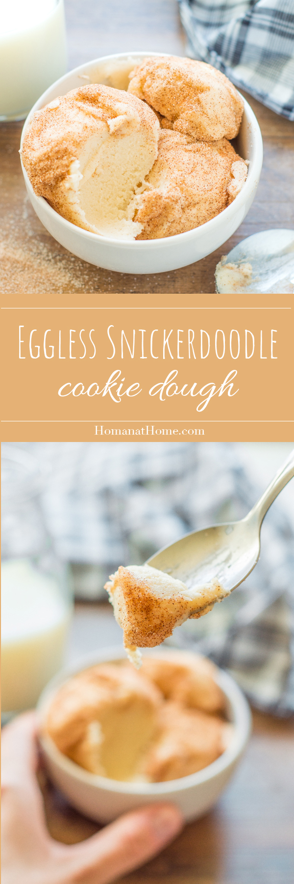 Eggless Snickerdoodle Cookie Dough | Homan at Home