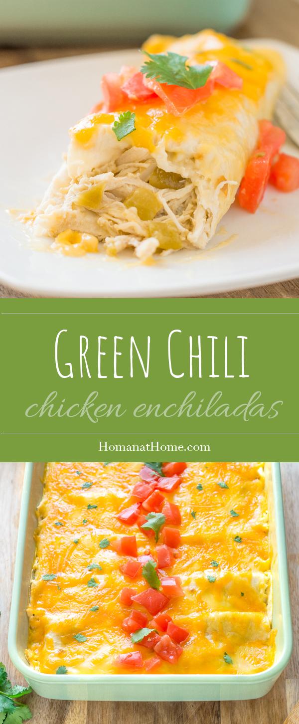 Green Chili Chicken Enchiladas | Homan at Home