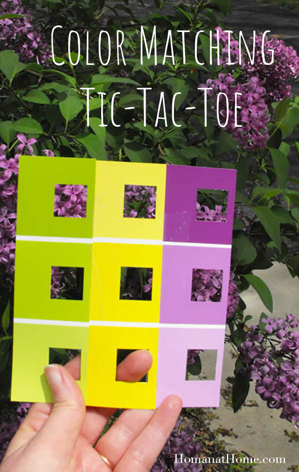 Color Matching Tic-Tac-Toe | Homan at Home