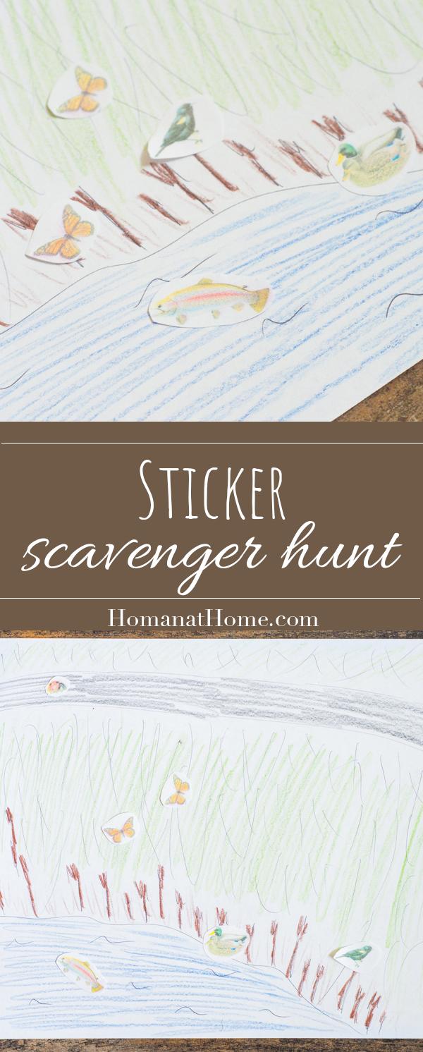 Sticker Scavenger Hunt | Homan at Home