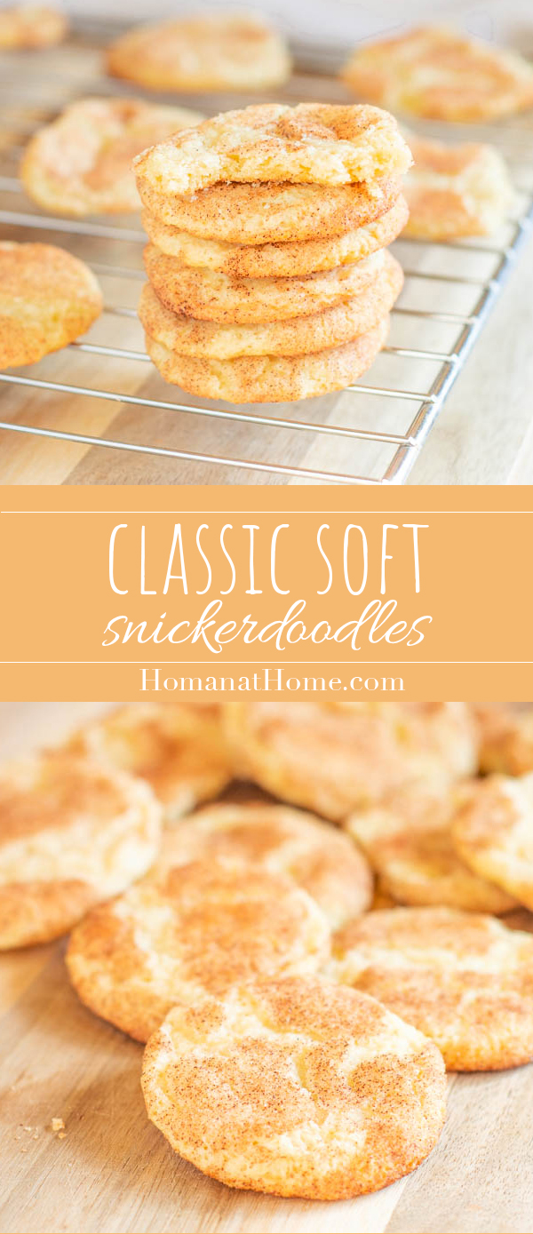 Classic Soft Snickerdoodles   Homan at Home