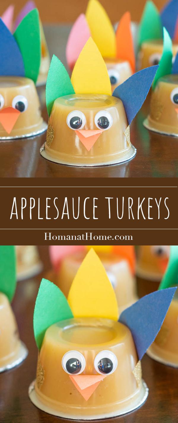 Applesauce Turkeys | Homan at Home
