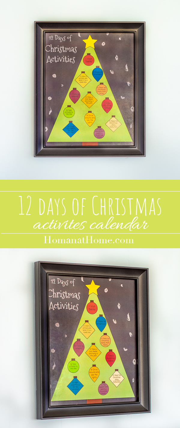 12 Days of Christmas Activities | Homan at Home