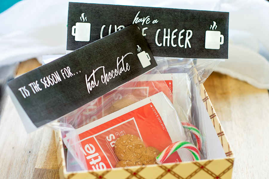Chalkboard Christmas Bag Toppers | Homan at Home