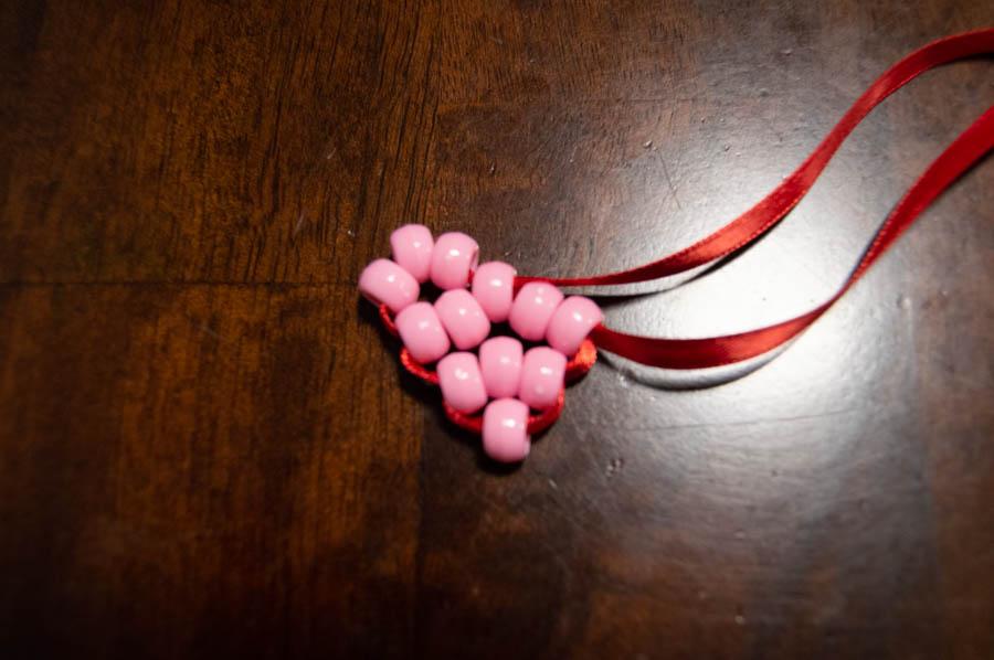 Beaded Heart Valentines | Homan at Home