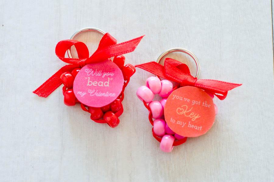 Beaded Heart Valentines| Homan at Home