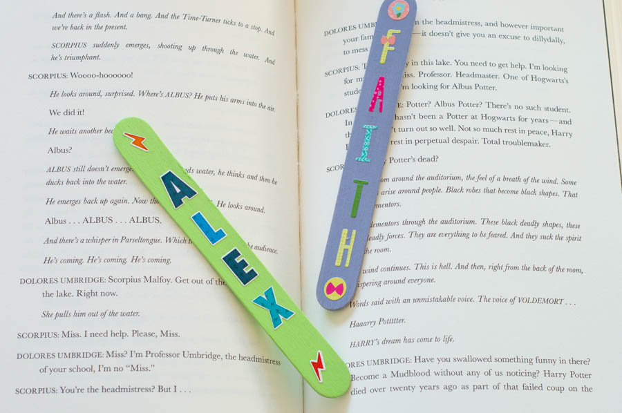 Popsicle Stick Name Bookmarks