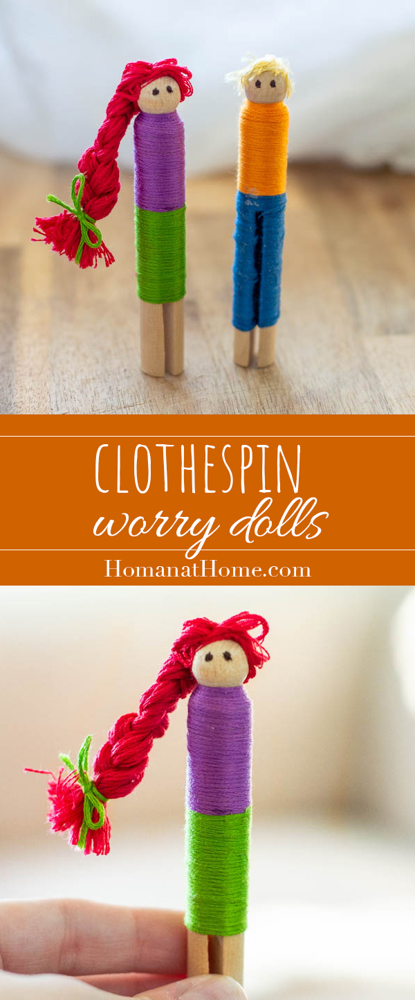 Clothespin Worry Dolls | Homan at Home