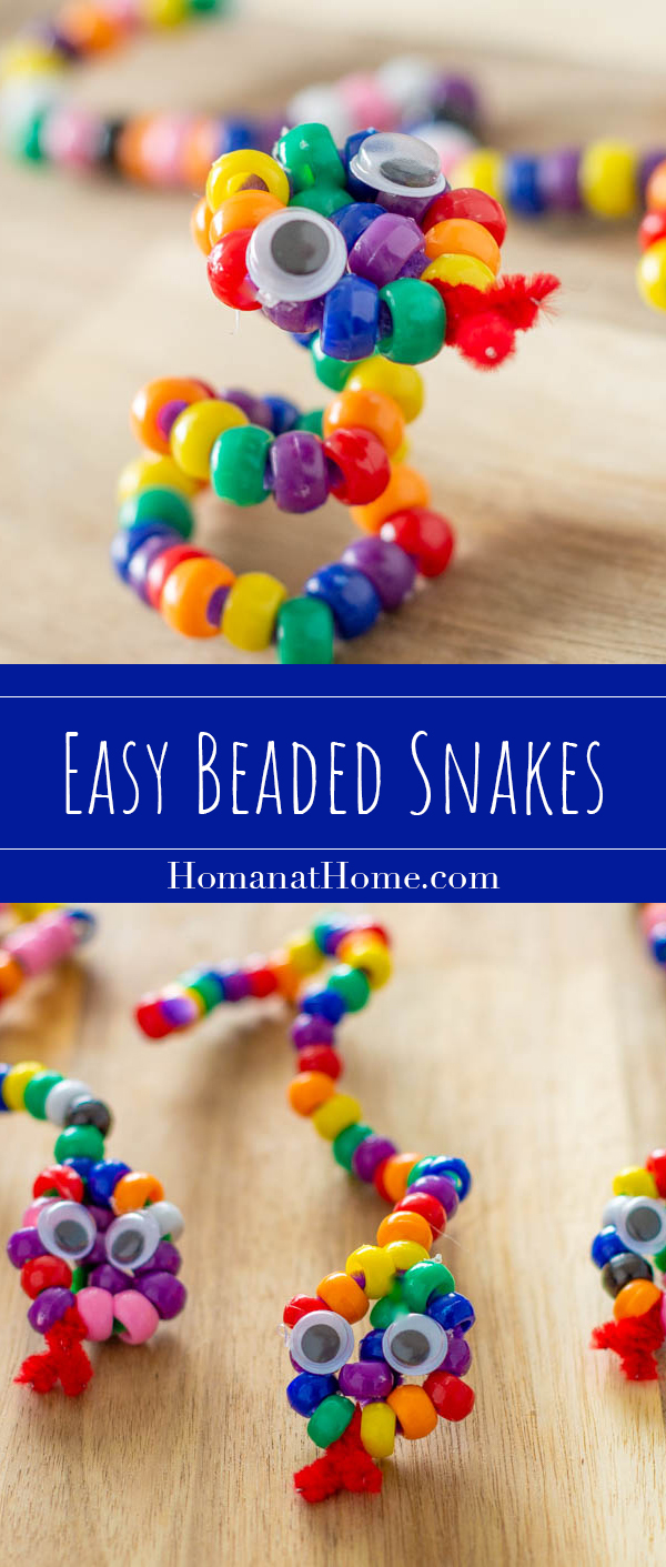 Easy Beaded Snakes | Homan at Home