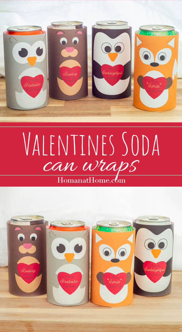 Valentines Soda Can Wraps | Homan at Home