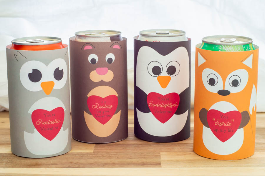 Valentine Soda Can Wraps