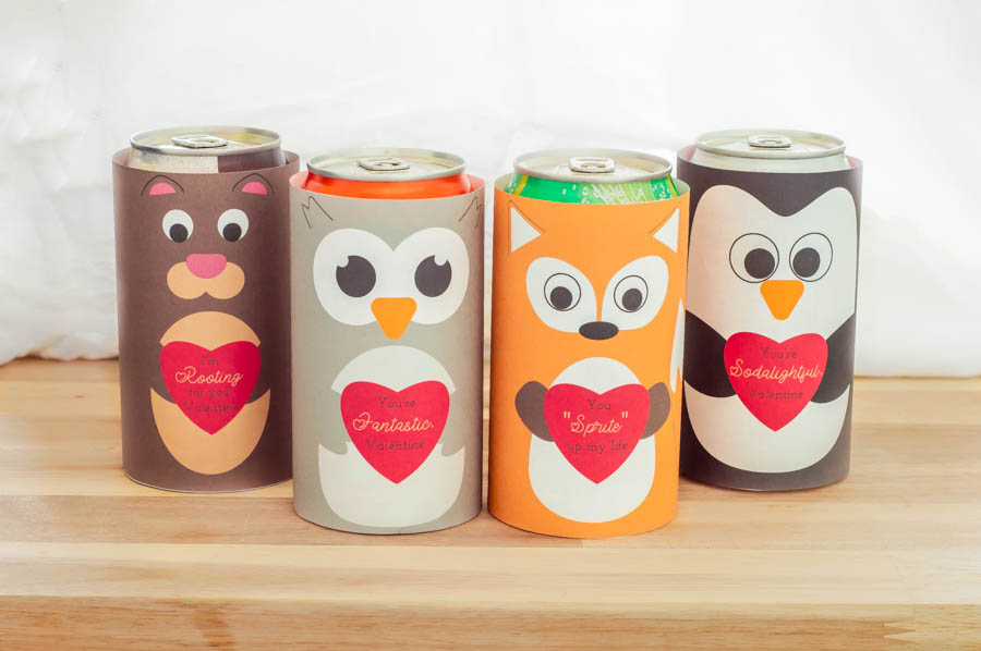 Valentine Soda Can Wraps | Homan at Home