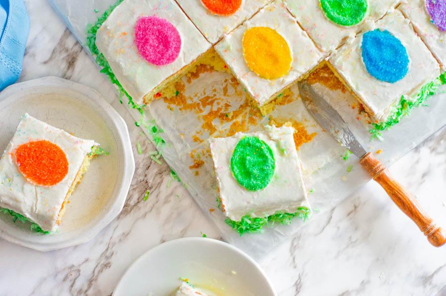 Easy Easter Egg Sprinkle Cake
