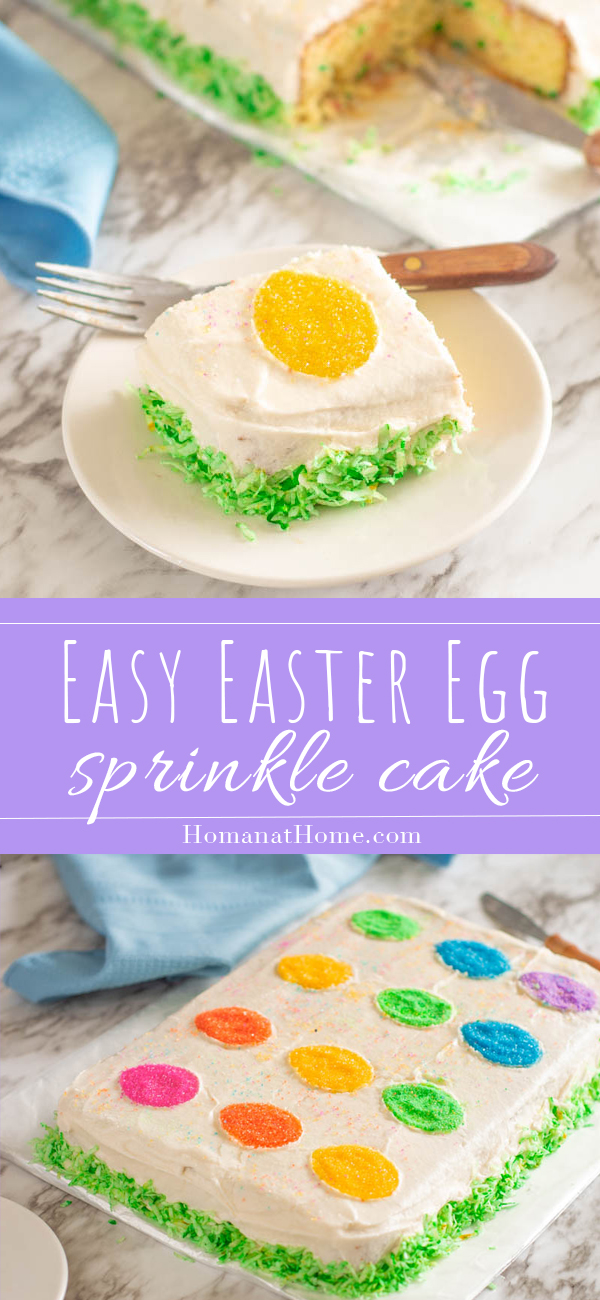 Easy Easter Egg Sprinkle Cake | Homan at Home