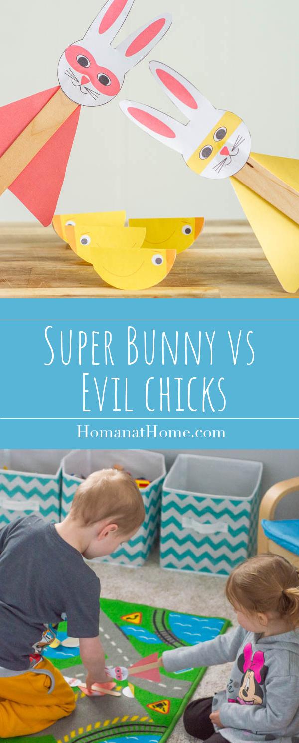 Super Bunny vs Evil Chicks   Homan at Home