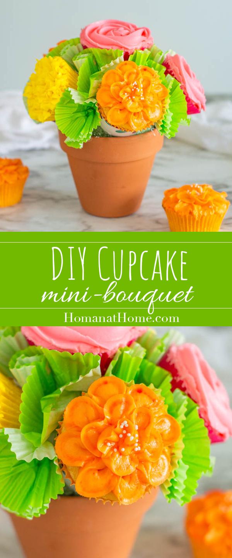 DIY Cupcake Mini-Bouquet | Homan at Home