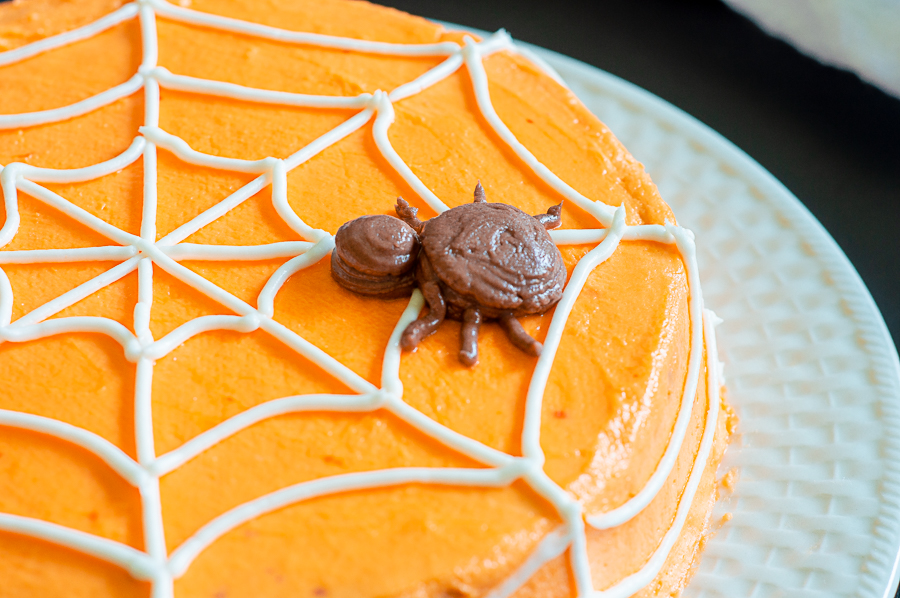 Simple Spiderweb Cake