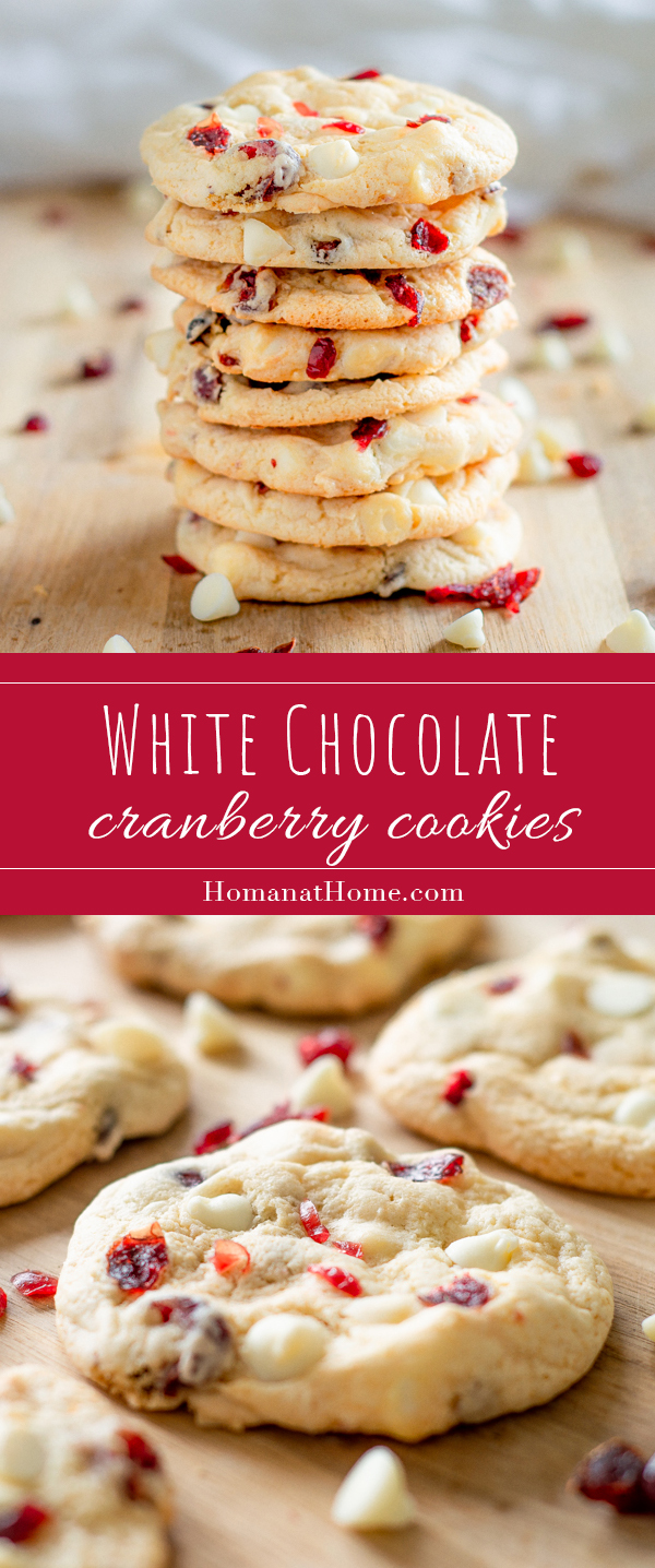 White Chocolate Cranberry Cookies | Homan at Home