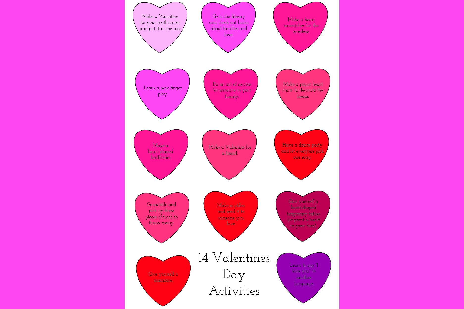 14 Free or Cheap Activities for Valentines | Homan at Home