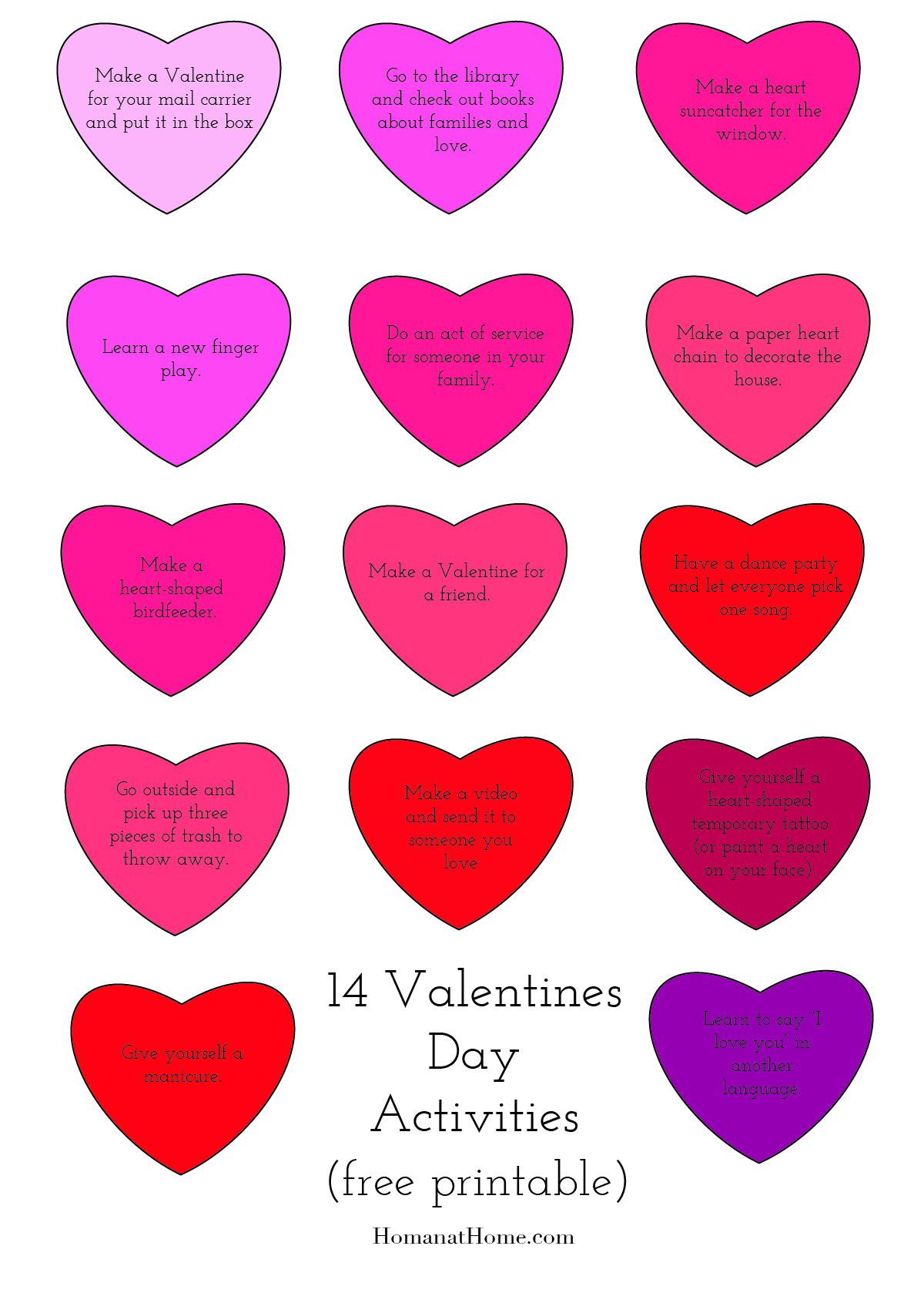 14 Free or Low Cost Activities for Valentines | Homan at Home