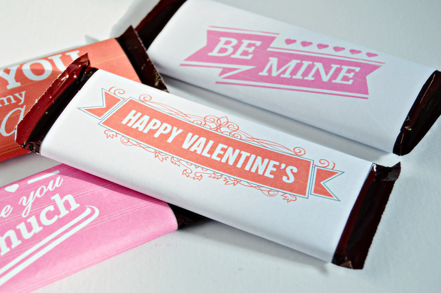 Valentine Candy Bar Wrapper Printables