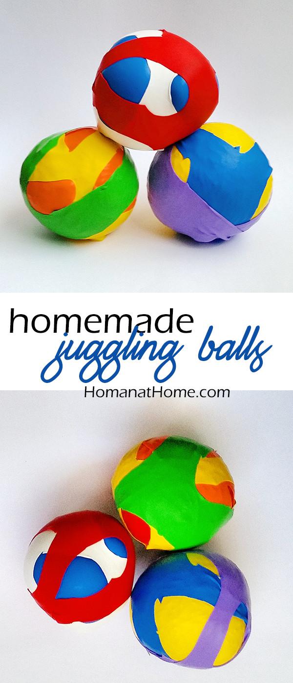 Homemade Juggling Balls from Homan at Home