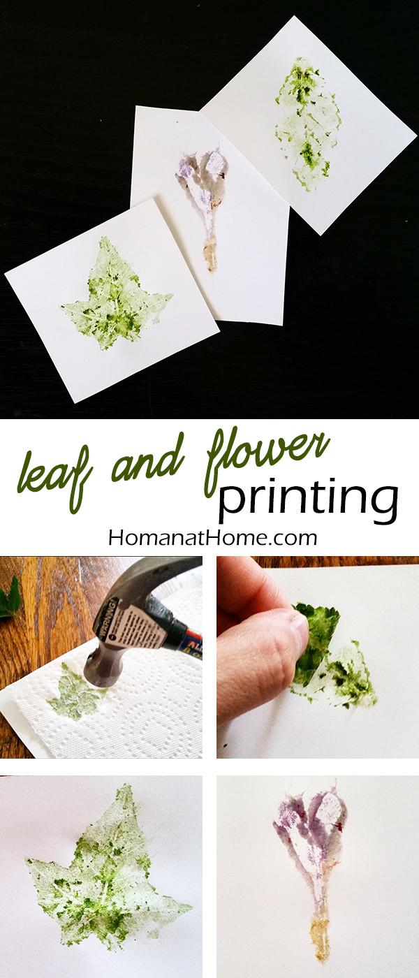 Leaf Printing   Homan at Home