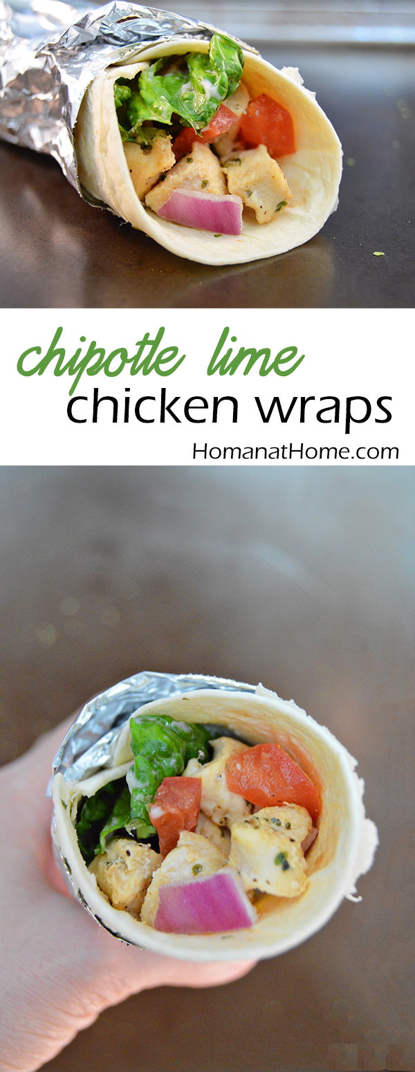 Chipotle Lime Chicken Wraps | Homan at Home