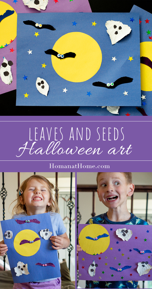 Leaves and Seeds Halloween Art   Homan at Home